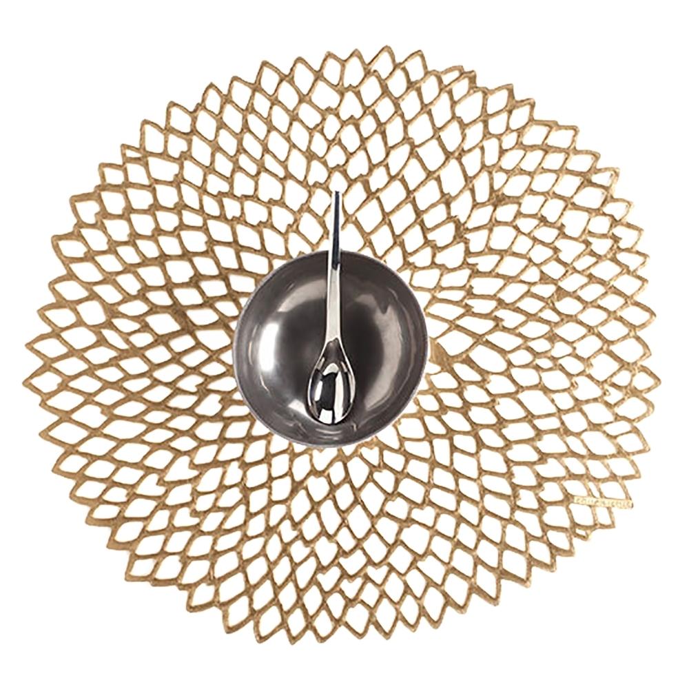 Салфетка подстановочная, винил, (36х39) Brass (100142-006) CHILEWICH Pressed dahlia арт. 0403-DAHL-BRASСервировка стола<br>длина (см):39материал:винилпредметов в наборе (штук):1страна:СШАширина (см):36.0<br>Официальный продавец CHILEWICH<br>