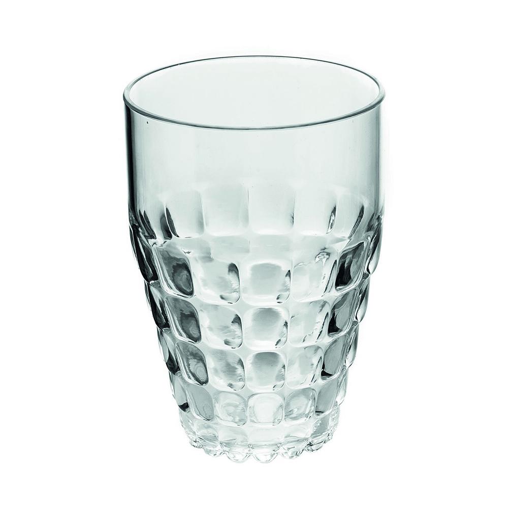 Бокал Guzzini Tiffany прозрачный 22570100Бокалы и стаканы<br>Бокал Guzzini Tiffany прозрачный 22570100<br><br>Легкий и яркий дизайн бокала Tiffany будто намекает на освежающие лимонады, бодрящие соки и цитрусовые коктейли. Отличается конической формой и прозрачным материалом, который придает бокалу характерный блеск. Сверкающий эффект усиливается на солнечном свету, поэтому бокал станет отличным решением для подачи напитков на свежем воздухе. Идеально подойдет для использования каждый день - добавит яркий акцент пространству кухни или гостиной.  Объем бокала - 510 мл. Изготовлен из высококачественного органического стекла, устойчивого к износу и повреждениям. Не содержит вредных примесей и бисфенола-А. Можно мыть в посудомоечной машине.<br>Официальный продавец<br>