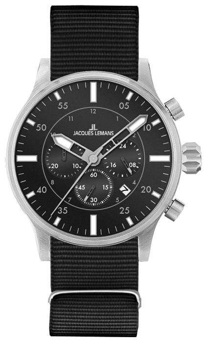 Jacques Lemans 1-1749A - мужские наручные часы из коллекции PortoJacques Lemans<br><br><br>Бренд: Jacques Lemans<br>Модель: Jacques Lemans 1-1749A<br>Артикул: 1-1749A<br>Вариант артикула: None<br>Коллекция: Porto<br>Подколлекция: None<br>Страна: Австрия<br>Пол: мужские<br>Тип механизма: кварцевые<br>Механизм: None<br>Количество камней: None<br>Автоподзавод: None<br>Источник энергии: от батарейки<br>Срок службы элемента питания: None<br>Дисплей: стрелки<br>Цифры: арабские<br>Водозащита: WR 100<br>Противоударные: None<br>Материал корпуса: нерж. сталь<br>Материал браслета: текстиль<br>Материал безеля: None<br>Стекло: минеральное<br>Антибликовое покрытие: None<br>Цвет корпуса: None<br>Цвет браслета: None<br>Цвет циферблата: None<br>Цвет безеля: None<br>Размеры: 44 мм<br>Диаметр: None<br>Диаметр корпуса: None<br>Толщина: None<br>Ширина ремешка: None<br>Вес: None<br>Спорт-функции: секундомер<br>Подсветка: стрелок<br>Вставка: None<br>Отображение даты: число<br>Хронограф: есть<br>Таймер: None<br>Термометр: None<br>Хронометр: None<br>GPS: None<br>Радиосинхронизация: None<br>Барометр: None<br>Скелетон: None<br>Дополнительная информация: None<br>Дополнительные функции: второй часовой пояс