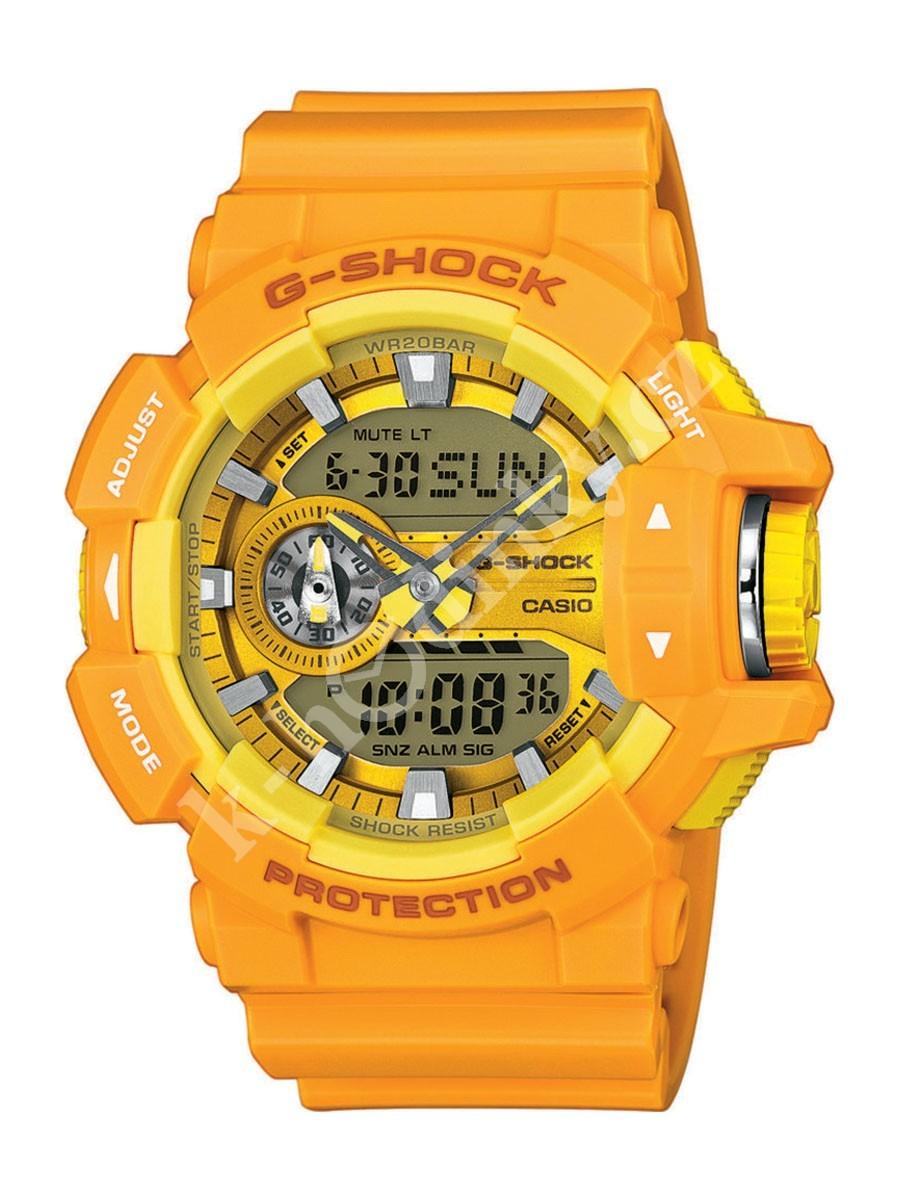 Casio G-SHOCK GA-400A-9A / GA-400A-9AER - мужские наручные часыCasio<br><br><br>Бренд: Casio<br>Модель: Casio GA-400A-9A<br>Артикул: GA-400A-9A<br>Вариант артикула: GA-400A-9AER<br>Коллекция: G-SHOCK<br>Подколлекция: None<br>Страна: Япония<br>Пол: мужские<br>Тип механизма: кварцевые<br>Механизм: None<br>Количество камней: None<br>Автоподзавод: None<br>Источник энергии: от батарейки<br>Срок службы элемента питания: None<br>Дисплей: стрелки + цифры<br>Цифры: отсутствуют<br>Водозащита: WR 200<br>Противоударные: есть<br>Материал корпуса: пластик<br>Материал браслета: пластик<br>Материал безеля: None<br>Стекло: минеральное<br>Антибликовое покрытие: None<br>Цвет корпуса: None<br>Цвет браслета: None<br>Цвет циферблата: None<br>Цвет безеля: None<br>Размеры: None<br>Диаметр: None<br>Диаметр корпуса: None<br>Толщина: None<br>Ширина ремешка: None<br>Вес: 70 г<br>Спорт-функции: секундомер, таймер обратного отсчета<br>Подсветка: дисплея<br>Вставка: None<br>Отображение даты: вечный календарь, число, месяц, день недели<br>Хронограф: None<br>Таймер: None<br>Термометр: None<br>Хронометр: None<br>GPS: None<br>Радиосинхронизация: None<br>Барометр: None<br>Скелетон: None<br>Дополнительная информация: защита от магнитных полей, ежечасный сигнал, повтор сигнала будильника, автоподсветка, функция включения/отключения звука кнопок, элемент питания SR927W ? 2, срок службы батарейки 3 года<br>Дополнительные функции: второй часовой пояс, будильник (количество установок: 5)