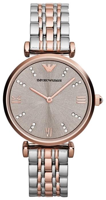 Emporio Armani AR1840 - женские наручные часы из коллекции ClassicEmporio Armani<br><br><br>Бренд: Emporio Armani<br>Модель: Emporio Armani AR1840<br>Артикул: AR1840<br>Вариант артикула: None<br>Коллекция: Classic<br>Подколлекция: None<br>Страна: Италия<br>Пол: женские<br>Тип механизма: кварцевые<br>Механизм: None<br>Количество камней: None<br>Автоподзавод: None<br>Источник энергии: от батарейки<br>Срок службы элемента питания: None<br>Дисплей: стрелки<br>Цифры: римские<br>Водозащита: WR 30<br>Противоударные: None<br>Материал корпуса: нерж. сталь, PVD покрытие: позолота (частичное)<br>Материал браслета: нерж. сталь, PVD покрытие (частичное): позолота<br>Материал безеля: None<br>Стекло: минеральное<br>Антибликовое покрытие: None<br>Цвет корпуса: None<br>Цвет браслета: None<br>Цвет циферблата: None<br>Цвет безеля: None<br>Размеры: None<br>Диаметр: None<br>Диаметр корпуса: None<br>Толщина: None<br>Ширина ремешка: None<br>Вес: None<br>Спорт-функции: None<br>Подсветка: None<br>Вставка: None<br>Отображение даты: None<br>Хронограф: None<br>Таймер: None<br>Термометр: None<br>Хронометр: None<br>GPS: None<br>Радиосинхронизация: None<br>Барометр: None<br>Скелетон: None<br>Дополнительная информация: None<br>Дополнительные функции: None