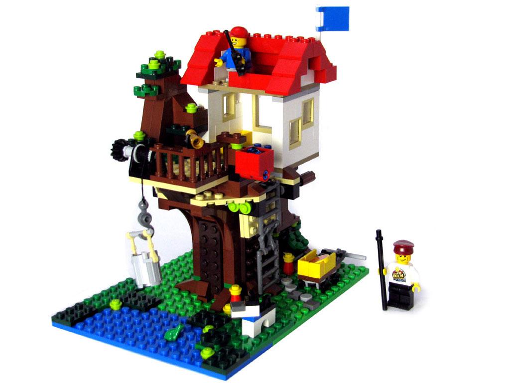 Как сделать дом на дереве из лего