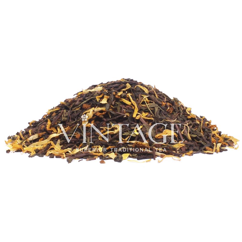 Пряный шоколад (чай зеленый байховый ароматизированный листовой)Весовой чай<br>Пряный шоколад (чай зеленыйбайховый ароматизированный листовой)<br><br><br><br><br><br><br><br><br><br>Время заваривания<br>Температура заваривания<br>Количество заварки<br><br><br><br>Рекомендуемое время заваривания 3-4мин.<br><br><br>Рекомендуемая температура заваривания 75-85 °С<br><br><br>Рекомендуемое количество заварки 4-5гр из расчета на 200-300мл.<br><br><br><br><br><br>Состав: Чай ходжича, китайский зеленый чай Сенча, молочный шоколад, гриб чага, лепестки ноготков.<br>Описание: Чай ходжича, зеленый чай сенча, молочный шоколад, гриб чага, лепестки ноготков – экзотический, но очень вкусный чай с ароматом молочного шоколада, сбалансированный терпкими нотами элитного чая и древесными оттенками вкуса гриба чага.<br>