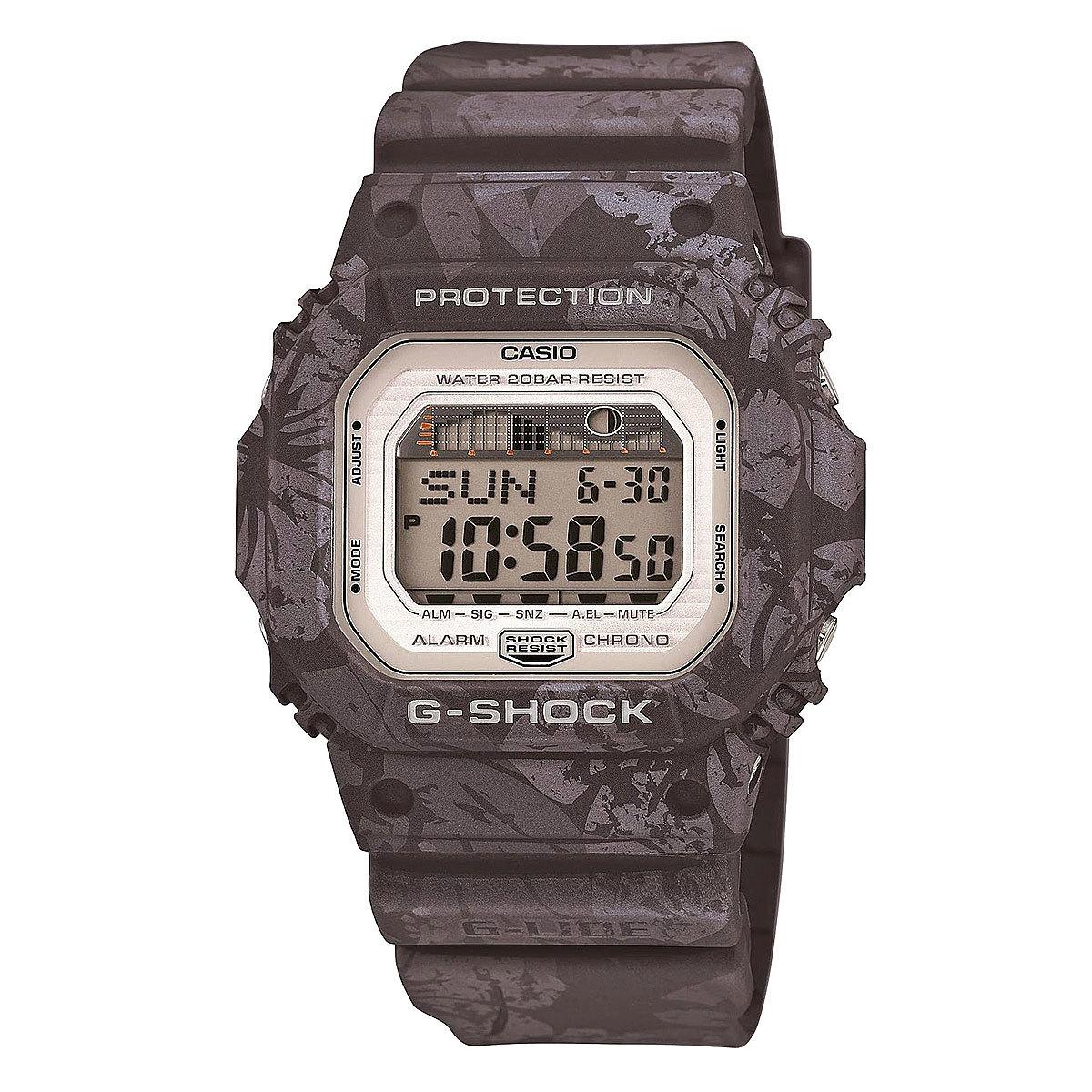 Casio G-SHOCK GLX-5600F-8E / GLX-5600F-8ER - мужские наручные часыCasio<br><br><br>Бренд: Casio<br>Модель: Casio GLX-5600F-8E<br>Артикул: GLX-5600F-8E<br>Вариант артикула: GLX-5600F-8ER<br>Коллекция: G-SHOCK<br>Подколлекция: None<br>Страна: Япония<br>Пол: мужские<br>Тип механизма: кварцевые<br>Механизм: None<br>Количество камней: None<br>Автоподзавод: None<br>Источник энергии: от батарейки<br>Срок службы элемента питания: None<br>Дисплей: цифры<br>Цифры: None<br>Водозащита: WR 200<br>Противоударные: есть<br>Материал корпуса: пластик<br>Материал браслета: пластик<br>Материал безеля: None<br>Стекло: минеральное<br>Антибликовое покрытие: None<br>Цвет корпуса: None<br>Цвет браслета: None<br>Цвет циферблата: None<br>Цвет безеля: None<br>Размеры: 43.2x46.7x12.7 мм<br>Диаметр: None<br>Диаметр корпуса: None<br>Толщина: None<br>Ширина ремешка: None<br>Вес: 53 г<br>Спорт-функции: секундомер, таймер обратного отсчета<br>Подсветка: дисплея<br>Вставка: None<br>Отображение даты: вечный календарь, число, месяц, день недели<br>Хронограф: None<br>Таймер: None<br>Термометр: None<br>Хронометр: None<br>GPS: None<br>Радиосинхронизация: None<br>Барометр: None<br>Скелетон: None<br>Дополнительная информация: ежечасный сигнал, повтор сигнала будильника, индикатор приливов/отливов, функция Flash alert, функция включения/отключения звука кнопок, элемент питания CR2025, срок службы батареи 7 лет<br>Дополнительные функции: второй часовой пояс, указатель фаз луны, будильник (количество установок: 3)