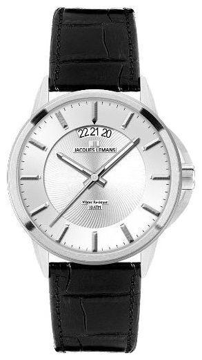 Jacques Lemans 1-1540B - мужские наручные часы из коллекции SydneyJacques Lemans<br><br><br>Бренд: Jacques Lemans<br>Модель: Jacques Lemans 1-1540B<br>Артикул: 1-1540B<br>Вариант артикула: None<br>Коллекция: Sydney<br>Подколлекция: None<br>Страна: Австрия<br>Пол: мужские<br>Тип механизма: кварцевые<br>Механизм: None<br>Количество камней: None<br>Автоподзавод: None<br>Источник энергии: от батарейки<br>Срок службы элемента питания: None<br>Дисплей: стрелки<br>Цифры: отсутствуют<br>Водозащита: WR 100<br>Противоударные: None<br>Материал корпуса: нерж. сталь<br>Материал браслета: кожа<br>Материал безеля: None<br>Стекло: минеральное<br>Антибликовое покрытие: None<br>Цвет корпуса: None<br>Цвет браслета: None<br>Цвет циферблата: None<br>Цвет безеля: None<br>Размеры: 42x42 мм<br>Диаметр: None<br>Диаметр корпуса: None<br>Толщина: None<br>Ширина ремешка: None<br>Вес: None<br>Спорт-функции: None<br>Подсветка: стрелок<br>Вставка: None<br>Отображение даты: число<br>Хронограф: None<br>Таймер: None<br>Термометр: None<br>Хронометр: None<br>GPS: None<br>Радиосинхронизация: None<br>Барометр: None<br>Скелетон: None<br>Дополнительная информация: None<br>Дополнительные функции: None