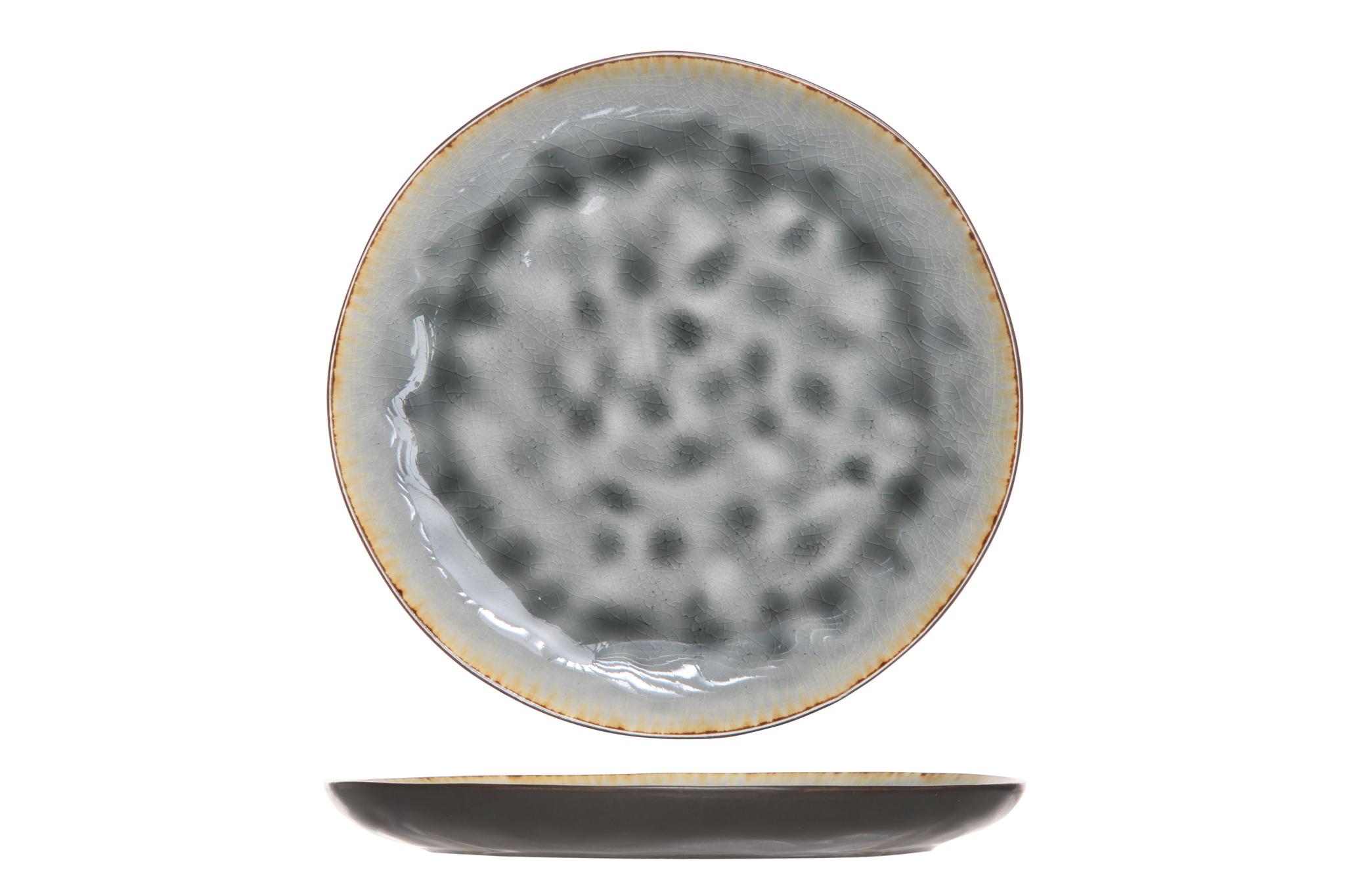 Тарелка для десерта 20 см COSY&amp;TRENDY Laguna blue-grey 5556317Новинки<br>Тарелка для десерта 20 см COSY&amp;TRENDY Laguna blue-grey 5556317<br><br>Эта коллекция из каменной керамики поражает удивительным цветом, текстурой и формой. Насыщенный ярко-серый оттенок с волнистым рельефом погружают в прибрежную лагуну. Органические края для дополнительного дизайна. Коллекция Laguna Blue-Grey воссоздает исключительный внешний вид приготовленных блюд.<br>