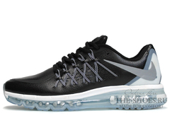 Кроссовки Мужские Nike Air Max 2015 Black White Leather