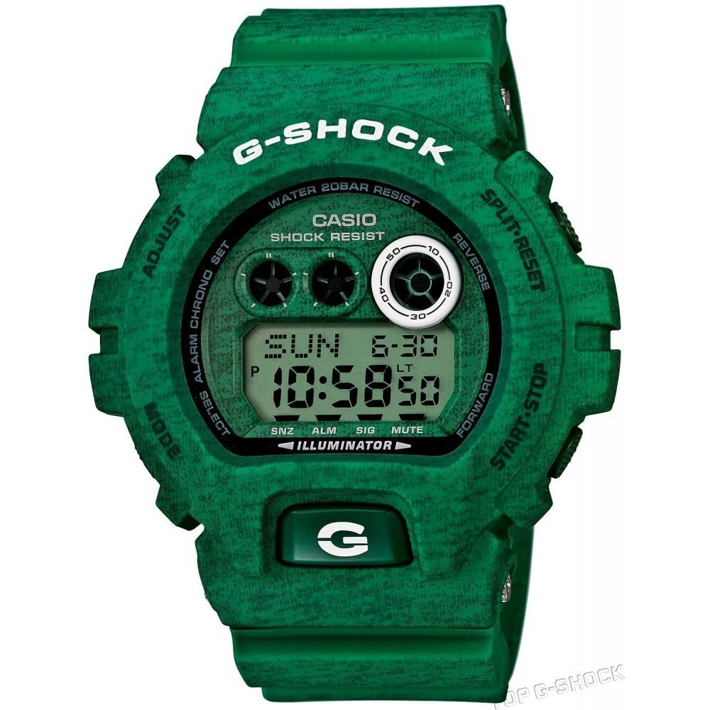 Casio G-SHOCK GD-X6900HT-3E / GD-X6900HT-3ER - мужские наручные часыCasio<br><br><br>Бренд: Casio<br>Модель: Casio GD-X6900HT-3E<br>Артикул: GD-X6900HT-3E<br>Вариант артикула: GD-X6900HT-3ER<br>Коллекция: G-SHOCK<br>Подколлекция: None<br>Страна: Япония<br>Пол: мужские<br>Тип механизма: кварцевые<br>Механизм: None<br>Количество камней: None<br>Автоподзавод: None<br>Источник энергии: от батарейки<br>Срок службы элемента питания: None<br>Дисплей: цифры<br>Цифры: None<br>Водозащита: WR 200<br>Противоударные: есть<br>Материал корпуса: пластик<br>Материал браслета: пластик<br>Материал безеля: None<br>Стекло: минеральное<br>Антибликовое покрытие: None<br>Цвет корпуса: None<br>Цвет браслета: None<br>Цвет циферблата: None<br>Цвет безеля: None<br>Размеры: 53.9x57.5x20.4 мм<br>Диаметр: None<br>Диаметр корпуса: None<br>Толщина: None<br>Ширина ремешка: None<br>Вес: 79 г<br>Спорт-функции: секундомер, таймер обратного отсчета<br>Подсветка: дисплея<br>Вставка: None<br>Отображение даты: вечный календарь, число, месяц, год, день недели<br>Хронограф: None<br>Таймер: None<br>Термометр: None<br>Хронометр: None<br>GPS: None<br>Радиосинхронизация: None<br>Барометр: None<br>Скелетон: None<br>Дополнительная информация: автоподсветка, ежечасный сигнал, повтор сигнала будильника, функция Flash alert, функция включения/отключения звука кнопок; элемент питания CR2032, срок службы батарейки 10 лет<br>Дополнительные функции: второй часовой пояс, будильник (количество установок: 3)