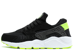 Кроссовки Мужские Nike Air Huarache Black White Green