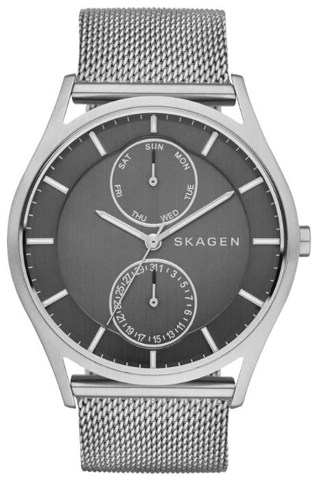 Skagen SKW6172 - мужские наручные часы из коллекции MeshSkagen<br><br><br>Бренд: Skagen<br>Модель: Skagen SKW6172<br>Артикул: SKW6172<br>Вариант артикула: None<br>Коллекция: Mesh<br>Подколлекция: None<br>Страна: Дания<br>Пол: мужские<br>Тип механизма: кварцевые<br>Механизм: None<br>Количество камней: None<br>Автоподзавод: None<br>Источник энергии: от батарейки<br>Срок службы элемента питания: None<br>Дисплей: стрелки<br>Цифры: отсутствуют<br>Водозащита: WR 30<br>Противоударные: None<br>Материал корпуса: нерж. сталь<br>Материал браслета: нерж. сталь<br>Материал безеля: None<br>Стекло: минеральное<br>Антибликовое покрытие: None<br>Цвет корпуса: None<br>Цвет браслета: None<br>Цвет циферблата: None<br>Цвет безеля: None<br>Размеры: 41 мм<br>Диаметр: None<br>Диаметр корпуса: None<br>Толщина: None<br>Ширина ремешка: None<br>Вес: None<br>Спорт-функции: None<br>Подсветка: None<br>Вставка: None<br>Отображение даты: число, день недели<br>Хронограф: None<br>Таймер: None<br>Термометр: None<br>Хронометр: None<br>GPS: None<br>Радиосинхронизация: None<br>Барометр: None<br>Скелетон: None<br>Дополнительная информация: None<br>Дополнительные функции: None