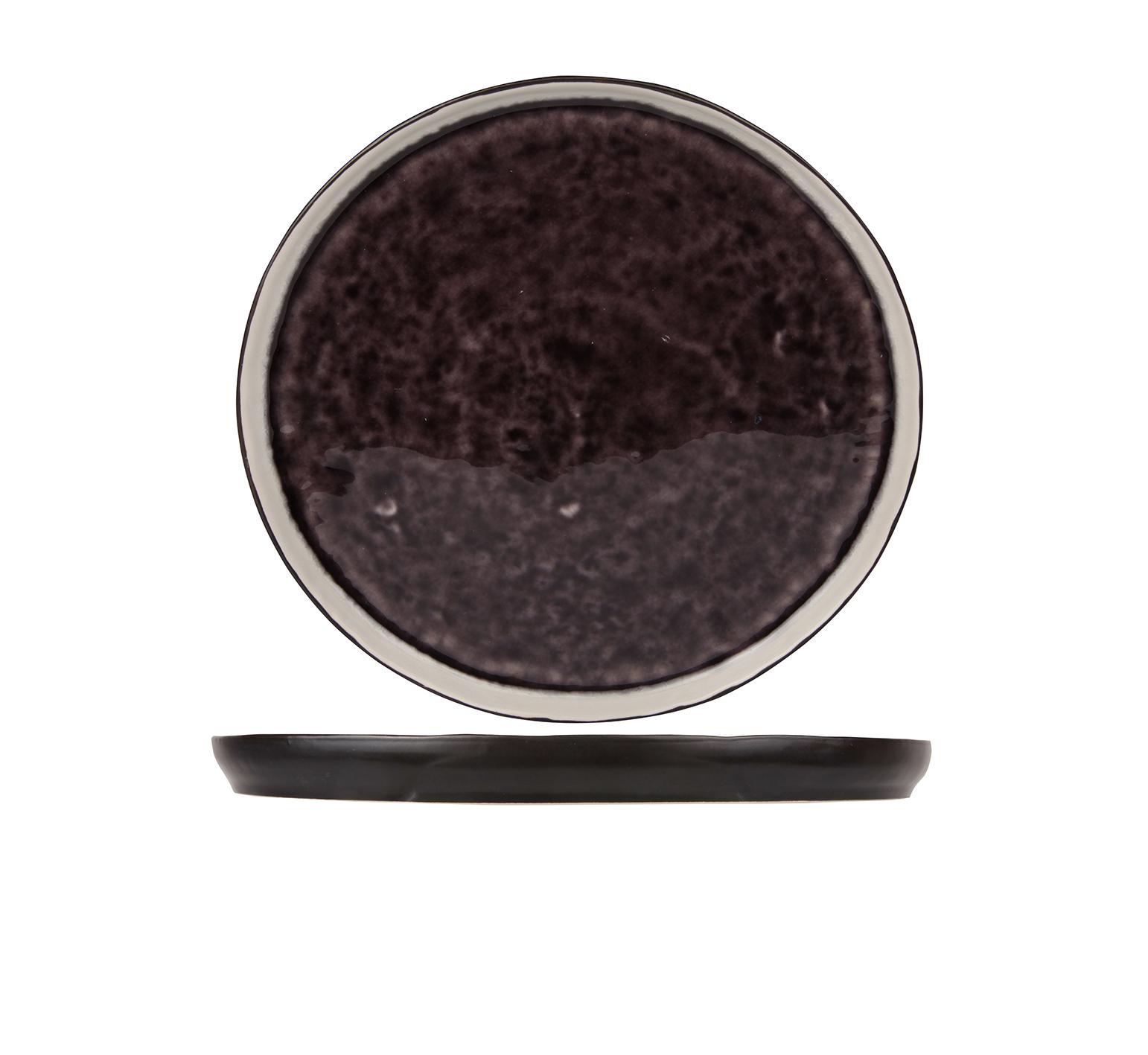 Тарелка для десерта 21,5 см COSY&amp;TRENDY Laguna viola 4290730Новинки<br>Тарелка для десерта 21,5 см COSY&amp;TRENDY Laguna viola 4290730<br><br>Эта коллекция из каменной керамики поражает удивительным цветом, текстурой и формой. Насыщенный темно-фиолетовый оттенок с волнистым рельефом погружают в прибрежную лагуну. Органические края для дополнительного дизайна. Коллекция Laguna Viola воссоздает исключительный внешний вид приготовленных блюд.<br>
