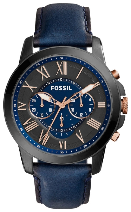 Fossil FS5061 - мужские наручные часы из коллекции GrantFossil<br><br><br>Бренд: Fossil<br>Модель: Fossil FS5061<br>Артикул: FS5061<br>Вариант артикула: None<br>Коллекция: Grant<br>Подколлекция: None<br>Страна: США<br>Пол: мужские<br>Тип механизма: кварцевые<br>Механизм: None<br>Количество камней: None<br>Автоподзавод: None<br>Источник энергии: от батарейки<br>Срок службы элемента питания: None<br>Дисплей: стрелки<br>Цифры: римские<br>Водозащита: WR 50<br>Противоударные: None<br>Материал корпуса: нерж. сталь, PVD покрытие: позолота (частичное)<br>Материал браслета: кожа (не указан)<br>Материал безеля: None<br>Стекло: минеральное<br>Антибликовое покрытие: None<br>Цвет корпуса: None<br>Цвет браслета: None<br>Цвет циферблата: None<br>Цвет безеля: None<br>Размеры: 44x11 мм<br>Диаметр: None<br>Диаметр корпуса: None<br>Толщина: None<br>Ширина ремешка: None<br>Вес: None<br>Спорт-функции: секундомер<br>Подсветка: стрелок<br>Вставка: None<br>Отображение даты: None<br>Хронограф: есть<br>Таймер: None<br>Термометр: None<br>Хронометр: None<br>GPS: None<br>Радиосинхронизация: None<br>Барометр: None<br>Скелетон: None<br>Дополнительная информация: None<br>Дополнительные функции: None