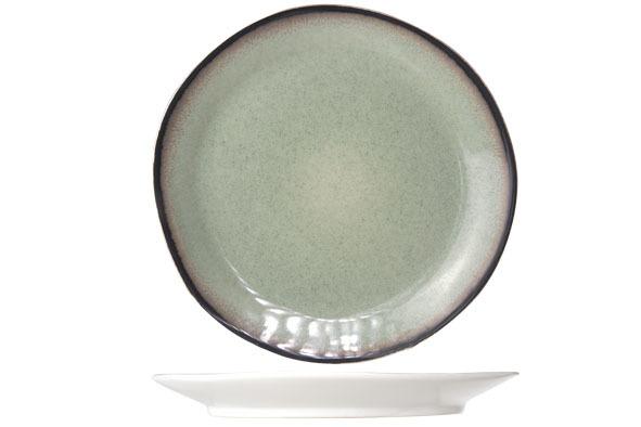 Тарелка для десерта 22,5 см COSY&amp;TRENDY Fez green 9212168Новинки<br>Тарелка для десерта 22,5 см COSY&amp;TRENDY Fez green 9212168<br><br>Эта коллекция из каменной керамики поражает удивительным цветом, текстурой и формой. Насыщенный темно-зеленый оттенок с волнистым рельефом погружают в песчаную лагуну. Органические края для дополнительного дизайна. Коллекция FEZ Green воссоздает исключительный внешний вид приготовленных блюд.<br>