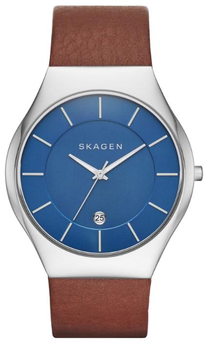 Skagen SKW6160 - мужские наручные часы из коллекции LeatherSkagen<br><br><br>Бренд: Skagen<br>Модель: Skagen SKW6160<br>Артикул: SKW6160<br>Вариант артикула: None<br>Коллекция: Leather<br>Подколлекция: None<br>Страна: Дания<br>Пол: мужские<br>Тип механизма: кварцевые<br>Механизм: None<br>Количество камней: None<br>Автоподзавод: None<br>Источник энергии: от батарейки<br>Срок службы элемента питания: None<br>Дисплей: стрелки<br>Цифры: отсутствуют<br>Водозащита: WR 30<br>Противоударные: None<br>Материал корпуса: нерж. сталь<br>Материал браслета: кожа<br>Материал безеля: None<br>Стекло: минеральное<br>Антибликовое покрытие: None<br>Цвет корпуса: None<br>Цвет браслета: None<br>Цвет циферблата: None<br>Цвет безеля: None<br>Размеры: 41 мм<br>Диаметр: None<br>Диаметр корпуса: None<br>Толщина: None<br>Ширина ремешка: None<br>Вес: None<br>Спорт-функции: None<br>Подсветка: None<br>Вставка: None<br>Отображение даты: число<br>Хронограф: None<br>Таймер: None<br>Термометр: None<br>Хронометр: None<br>GPS: None<br>Радиосинхронизация: None<br>Барометр: None<br>Скелетон: None<br>Дополнительная информация: None<br>Дополнительные функции: None