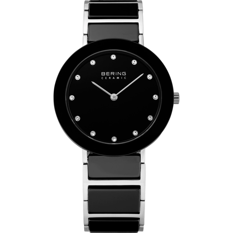 Bering 11435-749 - женские наручные часы из коллекции CeramicBering<br>женские, сапфировое стекло, корпус из нерж. стали с безелем из керамики черного цвета,  браслет из нерж. стали со вставками из керамики черного цвета и 2-мя дополнительными звеньями в комплекте, циферблат черного цвета с 12-ю кристаллами  swarovski<br><br>Бренд: Bering<br>Модель: Bering 11435-749<br>Артикул: 11435-749<br>Вариант артикула: ber-11435-749<br>Коллекция: Ceramic<br>Подколлекция: None<br>Страна: Дания<br>Пол: женские<br>Тип механизма: кварцевые<br>Механизм: None<br>Количество камней: None<br>Автоподзавод: None<br>Источник энергии: от батарейки<br>Срок службы элемента питания: None<br>Дисплей: стрелки<br>Цифры: отсутствуют<br>Водозащита: WR 50<br>Противоударные: None<br>Материал корпуса: нерж. сталь + керамика<br>Материал браслета: нерж. сталь + керамика<br>Материал безеля: керамика<br>Стекло: сапфировое<br>Антибликовое покрытие: None<br>Цвет корпуса: серебристый<br>Цвет браслета: серебрянный<br>Цвет циферблата: None<br>Цвет безеля: черный<br>Размеры: 35 мм<br>Диаметр: 35 мм<br>Диаметр корпуса: None<br>Толщина: None<br>Ширина ремешка: None<br>Вес: None<br>Спорт-функции: None<br>Подсветка: None<br>Вставка: кристаллы Swarovski<br>Отображение даты: None<br>Хронограф: None<br>Таймер: None<br>Термометр: None<br>Хронометр: None<br>GPS: None<br>Радиосинхронизация: None<br>Барометр: None<br>Скелетон: None<br>Дополнительная информация: None<br>Дополнительные функции: None