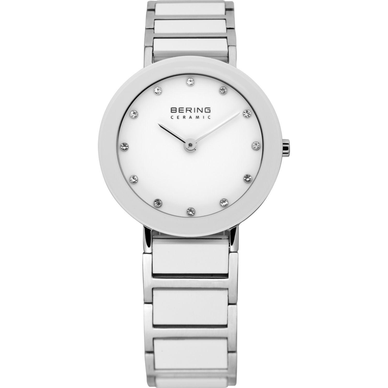 Bering 11429-754 - женские наручные часы из коллекции CeramicBering<br>женские, сапфировое стекло, корпус из нерж. стали с безелем из керамики белого цвета,  браслет из нерж. стали со вставками из керамики белого цвета и 2-мя дополнительными звеньями в комплекте, циферблат белого цвета с 12-ю кристаллами  swarovski<br><br>Бренд: Bering<br>Модель: Bering 11429-754<br>Артикул: 11429-754<br>Вариант артикула: ber-11429-754<br>Коллекция: Ceramic<br>Подколлекция: None<br>Страна: Дания<br>Пол: женские<br>Тип механизма: кварцевые<br>Механизм: None<br>Количество камней: None<br>Автоподзавод: None<br>Источник энергии: от батарейки<br>Срок службы элемента питания: None<br>Дисплей: стрелки<br>Цифры: отсутствуют<br>Водозащита: WR 50<br>Противоударные: None<br>Материал корпуса: нерж. сталь + керамика<br>Материал браслета: нерж. сталь + керамика<br>Материал безеля: керамика<br>Стекло: сапфировое<br>Антибликовое покрытие: None<br>Цвет корпуса: серебристый<br>Цвет браслета: серебрянный<br>Цвет циферблата: None<br>Цвет безеля: белый<br>Размеры: 29 мм<br>Диаметр: 29 мм<br>Диаметр корпуса: None<br>Толщина: None<br>Ширина ремешка: None<br>Вес: None<br>Спорт-функции: None<br>Подсветка: None<br>Вставка: кристаллы Swarovski<br>Отображение даты: None<br>Хронограф: None<br>Таймер: None<br>Термометр: None<br>Хронометр: None<br>GPS: None<br>Радиосинхронизация: None<br>Барометр: None<br>Скелетон: None<br>Дополнительная информация: None<br>Дополнительные функции: None