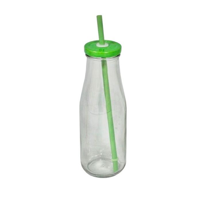 Стеклянная бутылка с крышкой и трубочкой зеленая (Стекло Antic Line, Франция)Стекло Antic Line, Франция<br>Стеклянная бутылка с крышкой и трубочкой зеленая<br>Стекло, металлическая крышка, пластиковая трубочка<br>Производитель: Antic Line, Франция<br>