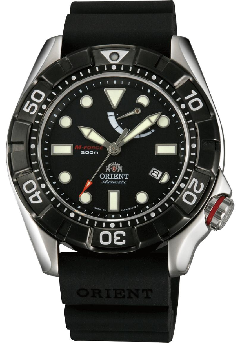 Orient EL03004B / SEL03004B0 - мужские наручные часыORIENT<br><br><br>Бренд: ORIENT<br>Модель: ORIENT EL03004B<br>Артикул: EL03004B<br>Вариант артикула: SEL03004B0<br>Коллекция: None<br>Подколлекция: None<br>Страна: Япония<br>Пол: мужские<br>Тип механизма: механические<br>Механизм: ORIENT caliber 40N5A<br>Количество камней: 22<br>Автоподзавод: есть<br>Источник энергии: пружинный механизм<br>Срок службы элемента питания: None<br>Дисплей: стрелки<br>Цифры: отсутствуют<br>Водозащита: WR 200<br>Противоударные: None<br>Материал корпуса: нерж. сталь<br>Материал браслета: каучук<br>Материал безеля: None<br>Стекло: сапфировое<br>Антибликовое покрытие: None<br>Цвет корпуса: None<br>Цвет браслета: None<br>Цвет циферблата: None<br>Цвет безеля: None<br>Размеры: 46x13.3 мм<br>Диаметр: None<br>Диаметр корпуса: None<br>Толщина: None<br>Ширина ремешка: None<br>Вес: None<br>Спорт-функции: None<br>Подсветка: стрелок<br>Вставка: None<br>Отображение даты: число<br>Хронограф: None<br>Таймер: None<br>Термометр: None<br>Хронометр: None<br>GPS: None<br>Радиосинхронизация: None<br>Барометр: None<br>Скелетон: None<br>Дополнительная информация: возможность ручного подзавода<br>Дополнительные функции: индикатор запаса хода