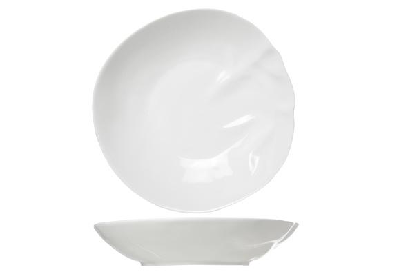 Тарелка для супа 21,5 см COSY&amp;TRENDY Twisted 3580548Новинки<br>Фарфор является классическим материалом для изготовления посуды. Традиционная классика, характеризующаяся удобной округлой формой, нежными цветовыми красками и изысканным дизайном. Серия, представленная в молочном цвете, устойчива к интенсивной эксплуатации.<br>