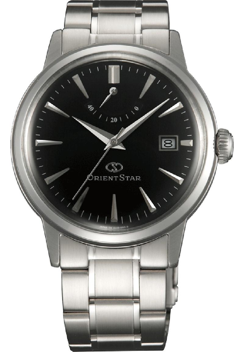 Orient EL05002B / SEL05002B0 - мужские наручные часыORIENT<br><br><br>Бренд: ORIENT<br>Модель: ORIENT EL05002B<br>Артикул: EL05002B<br>Вариант артикула: SEL05002B0<br>Коллекция: None<br>Подколлекция: None<br>Страна: Япония<br>Пол: мужские<br>Тип механизма: механические<br>Механизм: ORIENT caliber 40N52<br>Количество камней: None<br>Автоподзавод: есть<br>Источник энергии: пружинный механизм<br>Срок службы элемента питания: None<br>Дисплей: стрелки<br>Цифры: отсутствуют<br>Водозащита: WR 50<br>Противоударные: None<br>Материал корпуса: нерж. сталь<br>Материал браслета: нерж. сталь<br>Материал безеля: None<br>Стекло: минеральное<br>Антибликовое покрытие: None<br>Цвет корпуса: None<br>Цвет браслета: None<br>Цвет циферблата: None<br>Цвет безеля: None<br>Размеры: 38.5x13.1 мм<br>Диаметр: None<br>Диаметр корпуса: None<br>Толщина: None<br>Ширина ремешка: None<br>Вес: None<br>Спорт-функции: None<br>Подсветка: None<br>Вставка: None<br>Отображение даты: число<br>Хронограф: None<br>Таймер: None<br>Термометр: None<br>Хронометр: None<br>GPS: None<br>Радиосинхронизация: None<br>Барометр: None<br>Скелетон: None<br>Дополнительная информация: возможность ручного подзавода, прозрачная задняя крышка<br>Дополнительные функции: индикатор запаса хода
