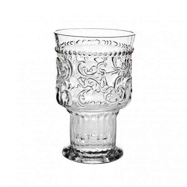 Стакан, прозрачное стекло Стекло Casa Alegre, Португалия<br>Стакан, прозрачное стекло Серия Радость<br>Высота 128 мм, емкость 330 мл<br>Бренд: Casa Alegre<br>Производитель: Vista Alegre Atlantis, Португалия<br>