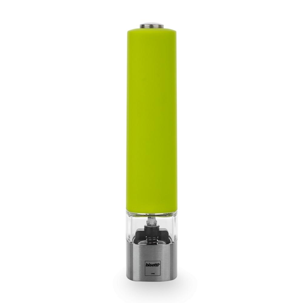 Мельница для соли 20 см, электрическая, BISETTI Electric 961SСолонки и перечницы<br>Мельница для соли 20 см, электрическая, BISETTI Electric 961S<br><br>Электрические мельницы ELECTRIC – это современный дизайн, лаконичные формы, удобство в эксплуатации. Элемент питания - 6 х ААА (в комплекте).<br>Механизмы мельниц BISETTI<br>Механизм мельниц для перца изготовлен из высококачественной твердой нержавеющей стали. Два ряда зубцов обеспечивает идеальное перетирание перца. Цинковое покрытие защищает весь механизм от возможного окисления, обеспечивая непревзойденную износостойкость.<br>Механизм мельницы для соли изготовлен из высокопрочной керамики. Все металлические детали производятся из нержавеющей стали и пищевого алюминия, что гарантирует устойчивость к коррозии.<br>Компания BISETTI дает гарантию 10 лет непосредственно на механизм мельницы. И вот уже более 70 лет не отступает от своих обещаний.<br>О компанииBISETTI<br>BISETTI – итальянская компания, имеющая богатую историю, которая началась в далеком 1945 году.<br>Кустарное производство по изготовлению кухонной утвари из дерева, расположенное на севере Италии, в городе Петтенаско, в провинции Новара, на берегу живописного озера Орта, упоминалось еще во второй половине XIX века. Уже тогда изделия ручной работы этой мастерской были очень любимы местным населением.<br>В 1945 году на базе мастерской были созданы первые мельницы для перца. Основным материалом для их производства стал бук. В настоящее время в ассортименте Компании насчитывается более 200 видов различных приспособлений для перемалывания специй: механические, электрические, мельницы для специй, для кофе и различных трав.<br>Для производства мельниц используют не только бук, но и оливковое дерево, бамбук, а также и другие современные материалы: высококачественный акрил и нержавеющую сталь.<br>С 1984 года Компанией управляет Бруно Бисетти. Благодаря внедрению современных технологий и бережному отношению к традициям, BISETTI по праву является одним из лидеров по