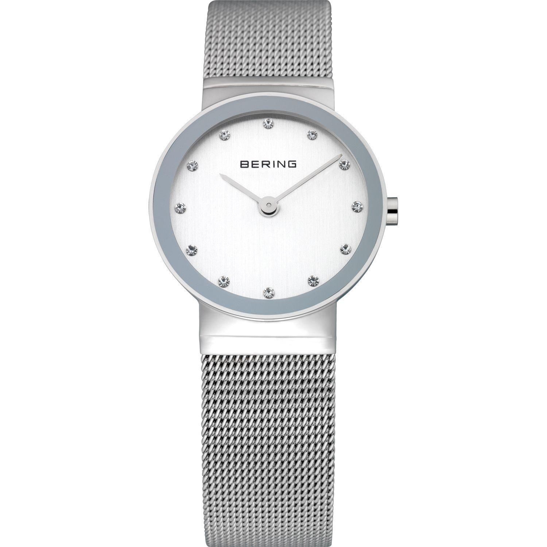 Bering 10126-000 - женские наручные часы из коллекции ClassicBering<br>женские, сапфировое стекло, корпус из нерж. стали,  браслет из нерж. стали, циферблат белого цвета с 12-ю кристаллами swarovski<br><br>Бренд: Bering<br>Модель: Bering 10126-000<br>Артикул: 10126-000<br>Вариант артикула: ber-10126-000<br>Коллекция: Classic<br>Подколлекция: None<br>Страна: Дания<br>Пол: женские<br>Тип механизма: кварцевые<br>Механизм: None<br>Количество камней: None<br>Автоподзавод: None<br>Источник энергии: от батарейки<br>Срок службы элемента питания: None<br>Дисплей: стрелки<br>Цифры: отсутствуют<br>Водозащита: WR 50<br>Противоударные: None<br>Материал корпуса: нерж. сталь<br>Материал браслета: нерж. сталь<br>Материал безеля: None<br>Стекло: сапфировое<br>Антибликовое покрытие: None<br>Цвет корпуса: серебристый<br>Цвет браслета: серебрянный<br>Цвет циферблата: None<br>Цвет безеля: None<br>Размеры: 26x6 мм<br>Диаметр: 26 мм<br>Диаметр корпуса: None<br>Толщина: None<br>Ширина ремешка: None<br>Вес: None<br>Спорт-функции: None<br>Подсветка: None<br>Вставка: кристаллы Swarovski<br>Отображение даты: None<br>Хронограф: None<br>Таймер: None<br>Термометр: None<br>Хронометр: None<br>GPS: None<br>Радиосинхронизация: None<br>Барометр: None<br>Скелетон: None<br>Дополнительная информация: None<br>Дополнительные функции: None