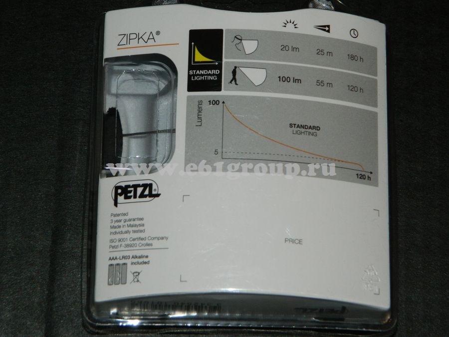 светодиодный фонарь Petzl ZIPKA онлайн
