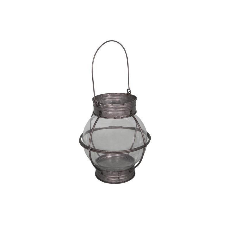 Фонарь для свечки (Мебель и предметы интерьера)Мебель и предметы интерьера<br>Фонарь для свечки<br>Металл (цинк), стекло<br>Производитель: Antic Line, Франция<br>