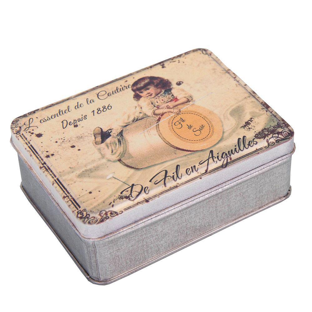 Шкатулка - коробка для мелочей (Подарки для женщин)Подарки для женщин<br>Шкатулка - коробка для мелочей<br>Металл<br>Производитель: Antic Line, Франция<br>