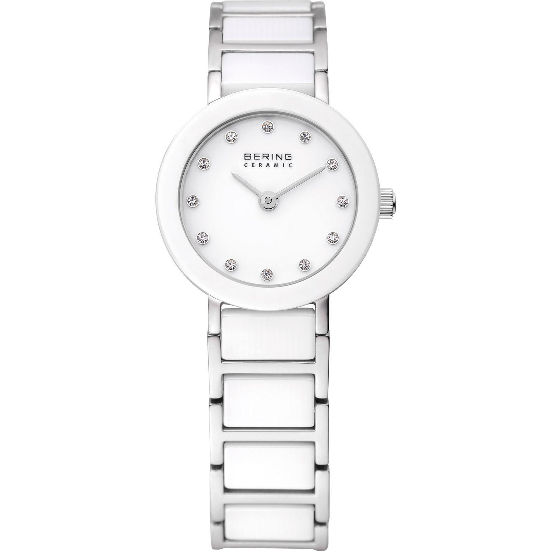 Bering 11422-754 - женские наручные часы из коллекции CeramicBering<br>женские, сапфировое стекло, корпус из нерж. стали с безелем из керамики белого цвета,  браслет из нерж. стали со вставками из керамики белого цвета и 2-мя дополнительными звеньями в комплекте, циферблат белого цвета с 12-ю кристаллами  swarovski<br><br>Бренд: Bering<br>Модель: Bering 11422-754<br>Артикул: 11422-754<br>Вариант артикула: ber-11422-754<br>Коллекция: Ceramic<br>Подколлекция: None<br>Страна: Дания<br>Пол: женские<br>Тип механизма: кварцевые<br>Механизм: Miyota 5Y20<br>Количество камней: None<br>Автоподзавод: None<br>Источник энергии: от батарейки<br>Срок службы элемента питания: None<br>Дисплей: стрелки<br>Цифры: отсутствуют<br>Водозащита: WR 50<br>Противоударные: None<br>Материал корпуса: нерж. сталь + керамика<br>Материал браслета: нерж. сталь + керамика<br>Материал безеля: керамика<br>Стекло: сапфировое<br>Антибликовое покрытие: None<br>Цвет корпуса: серебристый<br>Цвет браслета: серебрянный<br>Цвет циферблата: None<br>Цвет безеля: белый<br>Размеры: 22x7 мм<br>Диаметр: 22 мм<br>Диаметр корпуса: None<br>Толщина: None<br>Ширина ремешка: None<br>Вес: None<br>Спорт-функции: None<br>Подсветка: None<br>Вставка: None<br>Отображение даты: None<br>Хронограф: None<br>Таймер: None<br>Термометр: None<br>Хронометр: None<br>GPS: None<br>Радиосинхронизация: None<br>Барометр: None<br>Скелетон: None<br>Дополнительная информация: None<br>Дополнительные функции: None