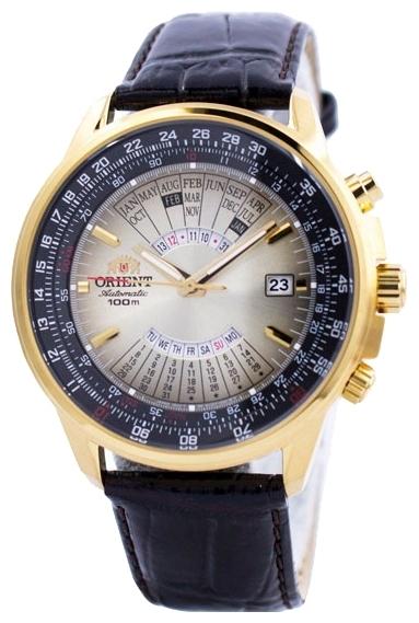 Orient EU0700AU / FEU0700AUH - мужские наручные часыORIENT<br><br><br>Бренд: ORIENT<br>Модель: ORIENT EU0700AU<br>Артикул: EU0700AU<br>Вариант артикула: FEU0700AUH<br>Коллекция: None<br>Подколлекция: None<br>Страна: Япония<br>Пол: мужские<br>Тип механизма: механические<br>Механизм: ORIENT 46D40<br>Количество камней: None<br>Автоподзавод: есть<br>Источник энергии: пружинный механизм<br>Срок службы элемента питания: None<br>Дисплей: стрелки<br>Цифры: отсутствуют<br>Водозащита: WR 100<br>Противоударные: None<br>Материал корпуса: нерж. сталь, PVD покрытие (полное)<br>Материал браслета: кожа<br>Материал безеля: None<br>Стекло: минеральное<br>Антибликовое покрытие: None<br>Цвет корпуса: None<br>Цвет браслета: None<br>Цвет циферблата: None<br>Цвет безеля: None<br>Размеры: None<br>Диаметр: None<br>Диаметр корпуса: 44<br>Толщина: None<br>Ширина ремешка: None<br>Вес: None<br>Спорт-функции: None<br>Подсветка: стрелок<br>Вставка: None<br>Отображение даты: число, месяц, год, день недели<br>Хронограф: None<br>Таймер: None<br>Термометр: None<br>Хронометр: None<br>GPS: None<br>Радиосинхронизация: None<br>Барометр: None<br>Скелетон: None<br>Дополнительная информация: None<br>Дополнительные функции: None