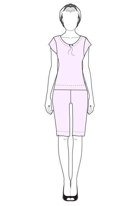 Пижама женская выкройка для начинающих