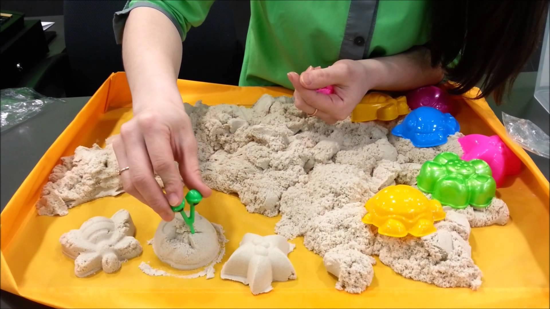 Кинетический песок своими руками в домашних условиях видео 148