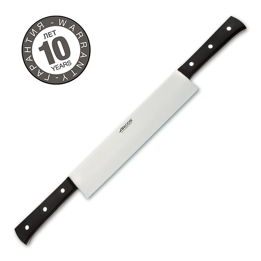 Нож для нарезки сыра с двумя ручками 26 см ARCOS Universal арт. 792300Arcos (Испания)<br>Нож для нарезки сыра с двумя ручками 26 см ARCOS Universal арт. 792300<br><br>Классический дизайн, привычный цвет, оптимальные, формы, прочные и долговечные лезвия, изготовленные из высококачественной нержавеющей стали NITRUM®, удобные рукоятки с полиоксиметиленовыми накладками — все это блестяще воплощено в кухонных ножах серии Universal.<br>Официальный продавец ARCOS<br>