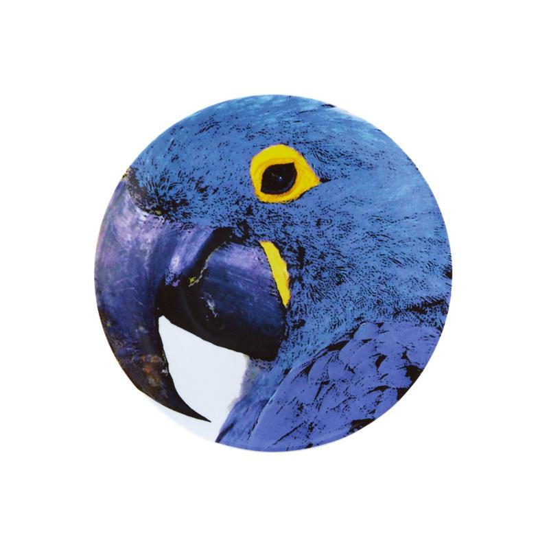 Olhar o Brazil Декоративная тарелка  Blue Macaw / Голубой ара 32,7 см (Фарфор Vista Alegre Atlantis, Португалия)Фарфор Vista Alegre Atlantis, Португалия<br>Olhar o Brazil Декоративная тарелка  Blue Macaw / Голубой ара 32,7 смСозданная известным архитектором Chico Gouvea, коллекция Olhar o Brazil - экспрессивная и аутентичная дань местной культуре, преобразованная в декор, наполненный  жизнью и красками, где каждый мотив тщательно продуман.  Материал: фарфор Подходит для использования в микроволновой печи и посудомоечной машинеПроизводитель: Vista Alegre Atlantis, Португалия<br>