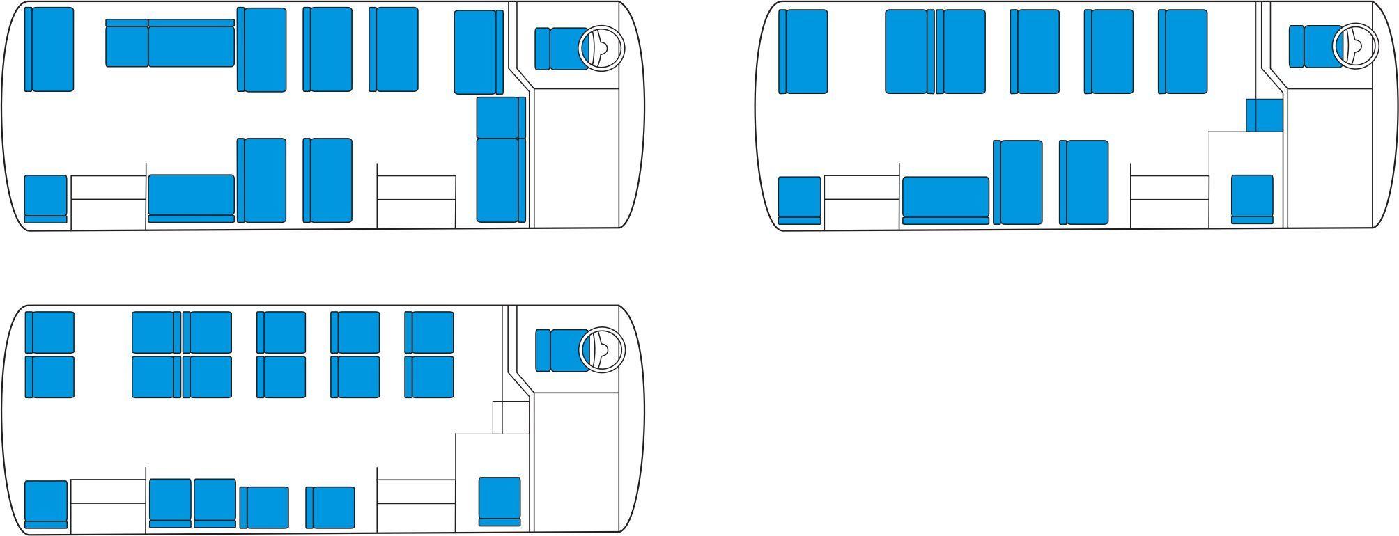 Схема мест школьная газель 11 мест