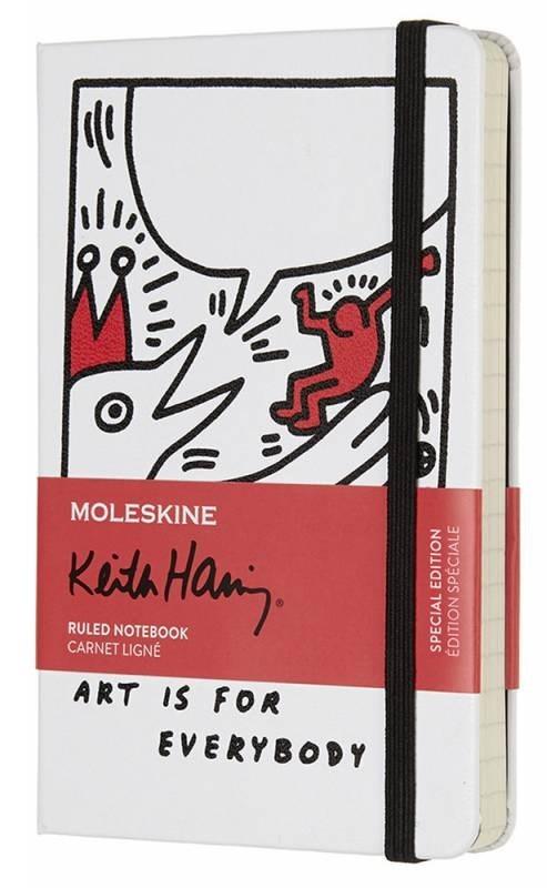 Блокнот Moleskine Keith Haring Limited Edition, цвет белый, в линейкуMOLESKINE<br>Количество страниц: 192<br>