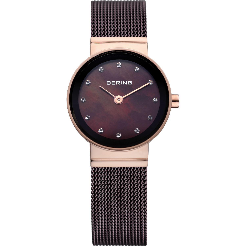 Bering 10122-265 - женские наручные часы из коллекции ClassicBering<br>женские, сапфировое стекло, корпус из нерж. стали с покрытием pvd розового цвета ,  браслет из нерж. стали с покрытием pvd коричневого цвета , циферблат перламутровый коричневого цвета с 12-ю кристаллами swarovski<br><br>Бренд: Bering<br>Модель: Bering 10122-265<br>Артикул: 10122-265<br>Вариант артикула: ber-10122-265<br>Коллекция: Classic<br>Подколлекция: None<br>Страна: Дания<br>Пол: женские<br>Тип механизма: кварцевые<br>Механизм: None<br>Количество камней: None<br>Автоподзавод: None<br>Источник энергии: от батарейки<br>Срок службы элемента питания: None<br>Дисплей: стрелки<br>Цифры: отсутствуют<br>Водозащита: WR 30<br>Противоударные: None<br>Материал корпуса: нерж. сталь, PVD покрытие: позолота (полное)<br>Материал браслета: нерж. сталь, PVD покрытие (полное)<br>Материал безеля: None<br>Стекло: сапфировое<br>Антибликовое покрытие: None<br>Цвет корпуса: розовое золото<br>Цвет браслета: коричневый<br>Цвет циферблата: None<br>Цвет безеля: None<br>Размеры: 22x6 мм<br>Диаметр: 22 мм<br>Диаметр корпуса: None<br>Толщина: None<br>Ширина ремешка: None<br>Вес: None<br>Спорт-функции: None<br>Подсветка: None<br>Вставка: None<br>Отображение даты: None<br>Хронограф: None<br>Таймер: None<br>Термометр: None<br>Хронометр: None<br>GPS: None<br>Радиосинхронизация: None<br>Барометр: None<br>Скелетон: None<br>Дополнительная информация: None<br>Дополнительные функции: None