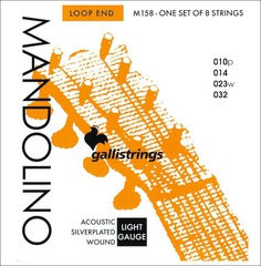 Струны для мандолины GALLISTRINGS MANDOLINO SILVERPLATED WOUND M158