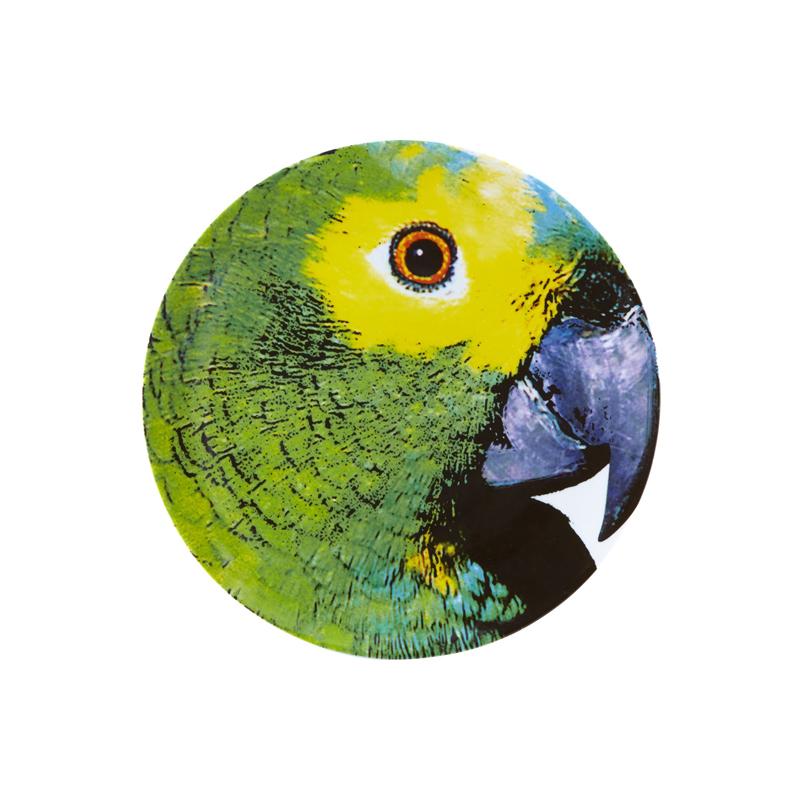Olhar o Brazil Декоративная тарелка  Parrot / Попугай 32,7 см (Фарфор Vista Alegre Atlantis, Португалия)Фарфор Vista Alegre Atlantis, Португалия<br>Olhar o Brazil Декоративная тарелка  Parrot / Попугай 32,7 смСозданная известным архитектором Chico Gouvea, коллекция Olhar o Brazil - экспрессивная и аутентичная дань местной культуре, преобразованная в декор, наполненный  жизнью и красками, где каждый мотив тщательно продуман.  Материал: фарфор Подходит для использования в микроволновой печи и посудомоечной машинеПроизводитель: Vista Alegre Atlantis, Португалия<br>