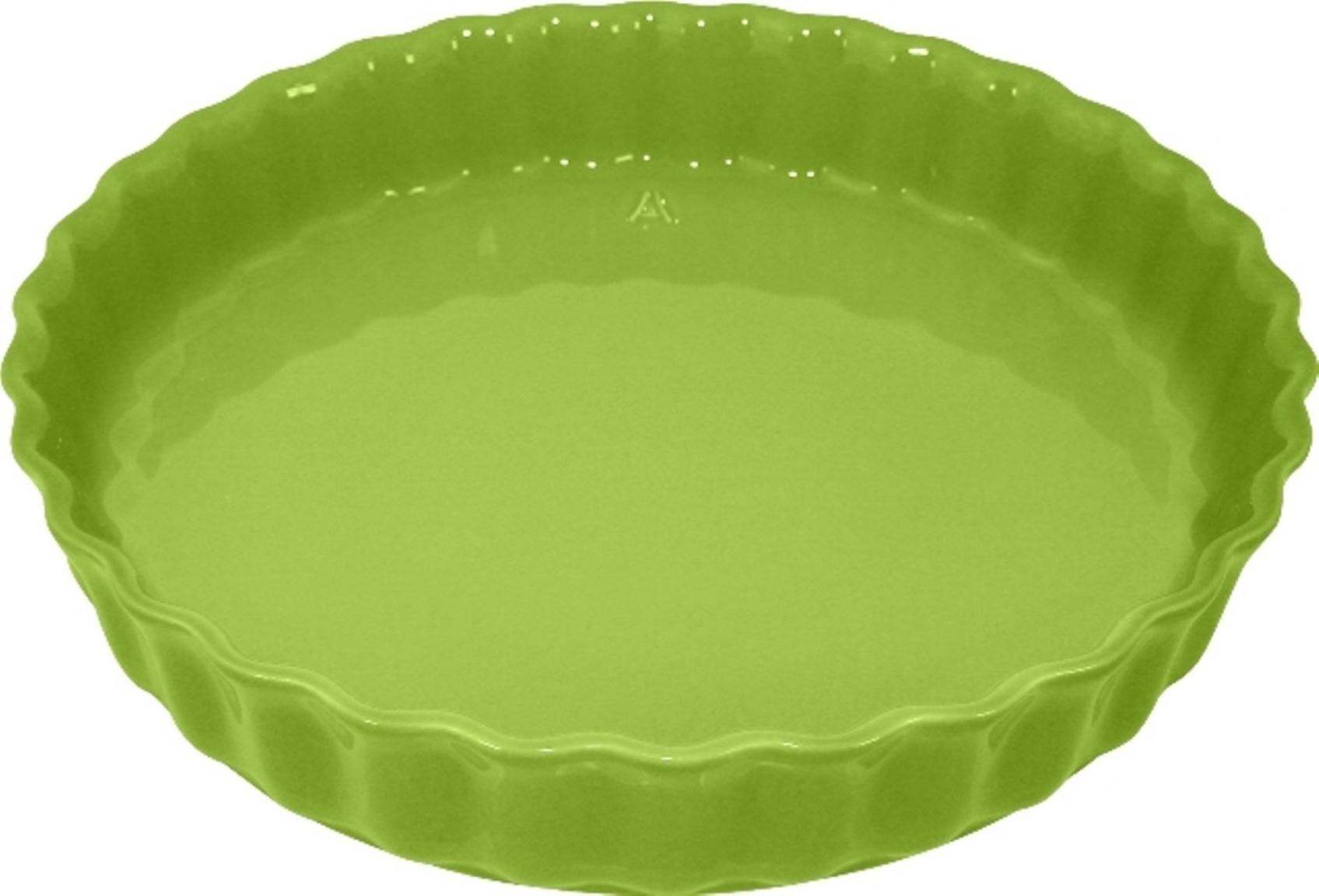 Форма для пирога 28 см Appolia Delices LIME 11028027Формы для запекания (выпечки)<br>Форма для пирога 28 см Appolia Delices LIME 11028027<br><br>Благодаря большому разнообразию изящных форм и широкой цветовой гамме, коллекция DELICES предлагает всевозможные варианты приготовления блюд для себя и гостей. Выбирайте цвета в соответствии с вашими желаниями и вашей кухне. Закругленные углы облегчают чистку. Легко использовать. Большие удобные ручки. Прочная жароустойчивая керамика экологична и изготавливается из высококачественной глины. Прочная глазурь устойчива к растрескиванию и сколам, не содержит свинца и кадмия. Глина обеспечивает медленный и равномерный нагрев, деликатное приготовление с сохранением всех питательных веществ и витаминов, а та же долго сохраняет тепло, что удобно при сервировке горячих блюд.<br>