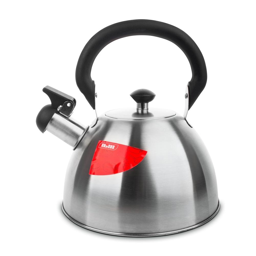 Чайник для кипячения воды со свистком 2,5 л, Prisma IBILI Prisma арт. 610425Чайники со свистком<br>вид упаковки:подарочнаяматериал:нержавеющая стальобъем (л):2.50предметов в наборе (штук):1страна:Испаниятип варочной поверхности:все типы поверхностей<br><br>Крышки из жароустойчивого стекла серии Prisma от Ibili отличаются стильным дизайном, эргономичными ручками, великолепным исполнением и непревзойденным удобством в эксплуатации. Любое изделие линейки Prisma — это современные инновации в сочетании с оригинальным воплощением смелых творческих идей. Все крышки выполнены из безопасных и качественных материалов, не оказывающих негативного влияния на здоровье человека или окружающую среду.<br>Круглые крышки коллекции Prisma идеально подойдут к сковородам соответствующего диаметра из любых коллекций бренда Ibili. Они плотно накрывают сковороду, а крупная ручка удобно ложится в руку.<br>Официальный продавец IBILI<br>