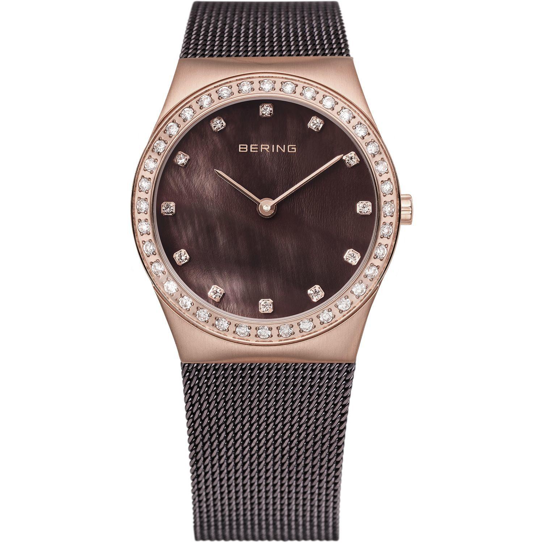 Bering 12426-262 - женские наручные часы из коллекции ClassicBering<br>rose gold, шоколадный миланский браслет, перламутровый циферблат, сапфировое стекло<br><br>Бренд: Bering<br>Модель: Bering 12426-262<br>Артикул: 12426-262<br>Вариант артикула: ber-12426-262<br>Коллекция: Classic<br>Подколлекция: None<br>Страна: Дания<br>Пол: женские<br>Тип механизма: кварцевые<br>Механизм: None<br>Количество камней: None<br>Автоподзавод: None<br>Источник энергии: от батарейки<br>Срок службы элемента питания: None<br>Дисплей: стрелки<br>Цифры: отсутствуют<br>Водозащита: WR 50<br>Противоударные: None<br>Материал корпуса: нерж. сталь, PVD покрытие: позолота (полное)<br>Материал браслета: нерж. сталь, PVD покрытие (полное)<br>Материал безеля: None<br>Стекло: сапфировое<br>Антибликовое покрытие: None<br>Цвет корпуса: розовое золото<br>Цвет браслета: коричневый<br>Цвет циферблата: None<br>Цвет безеля: None<br>Размеры: 26 мм<br>Диаметр: 26 мм<br>Диаметр корпуса: None<br>Толщина: None<br>Ширина ремешка: None<br>Вес: None<br>Спорт-функции: None<br>Подсветка: None<br>Вставка: кристаллы Swarovski<br>Отображение даты: None<br>Хронограф: None<br>Таймер: None<br>Термометр: None<br>Хронометр: None<br>GPS: None<br>Радиосинхронизация: None<br>Барометр: None<br>Скелетон: None<br>Дополнительная информация: None<br>Дополнительные функции: None