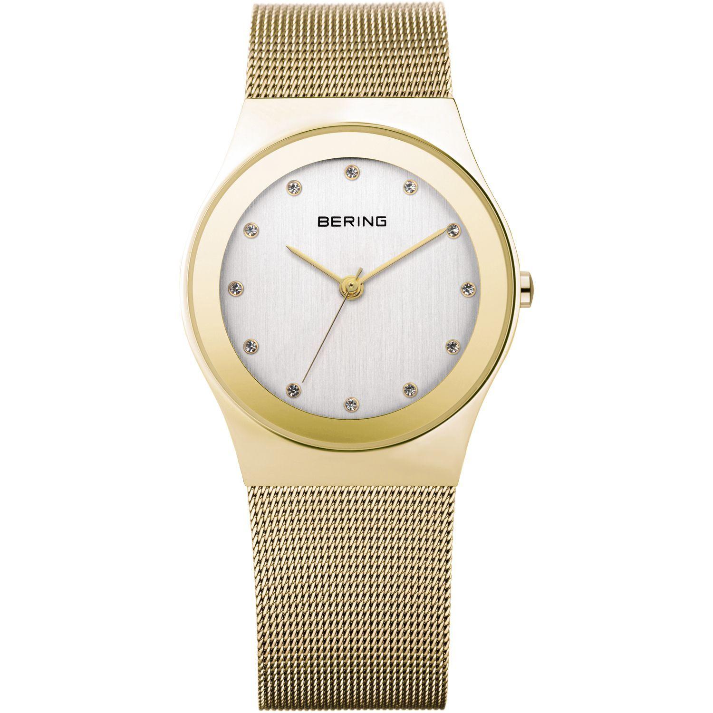 Bering 12927-334 - женские наручные часы из коллекции ClassicBering<br>женские,  сапфировое стекло, корпус из нерж. стали с покрытием pvd золотого цвета, браслет из нерж. стали с покрытием pvd золотого цвета, циферблат белого цвета с кристаллами swarovski<br><br>Бренд: Bering<br>Модель: Bering 12927-334<br>Артикул: 12927-334<br>Вариант артикула: ber-12927-334<br>Коллекция: Classic<br>Подколлекция: None<br>Страна: Дания<br>Пол: женские<br>Тип механизма: кварцевые<br>Механизм: None<br>Количество камней: None<br>Автоподзавод: None<br>Источник энергии: от батарейки<br>Срок службы элемента питания: None<br>Дисплей: стрелки<br>Цифры: отсутствуют<br>Водозащита: WR 30<br>Противоударные: None<br>Материал корпуса: нерж. сталь, PVD покрытие: позолота (полное)<br>Материал браслета: нерж. сталь, PVD покрытие (полное): позолота<br>Материал безеля: None<br>Стекло: сапфировое<br>Антибликовое покрытие: None<br>Цвет корпуса: золотой<br>Цвет браслета: золотой<br>Цвет циферблата: None<br>Цвет безеля: None<br>Размеры: 27 мм<br>Диаметр: 27 мм<br>Диаметр корпуса: None<br>Толщина: None<br>Ширина ремешка: None<br>Вес: None<br>Спорт-функции: None<br>Подсветка: None<br>Вставка: кристаллы Swarovski<br>Отображение даты: None<br>Хронограф: None<br>Таймер: None<br>Термометр: None<br>Хронометр: None<br>GPS: None<br>Радиосинхронизация: None<br>Барометр: None<br>Скелетон: None<br>Дополнительная информация: None<br>Дополнительные функции: None