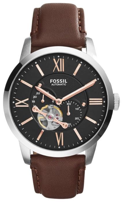 Fossil ME3061 - мужские наручные часы из коллекции FashionFossil<br><br><br>Бренд: Fossil<br>Модель: Fossil ME3061<br>Артикул: ME3061<br>Вариант артикула: None<br>Коллекция: Fashion<br>Подколлекция: None<br>Страна: США<br>Пол: мужские<br>Тип механизма: механические<br>Механизм: None<br>Количество камней: None<br>Автоподзавод: есть<br>Источник энергии: пружинный механизм<br>Срок службы элемента питания: None<br>Дисплей: стрелки<br>Цифры: римские<br>Водозащита: WR 50<br>Противоударные: None<br>Материал корпуса: нерж. сталь<br>Материал браслета: кожа (не указан)<br>Материал безеля: None<br>Стекло: минеральное<br>Антибликовое покрытие: None<br>Цвет корпуса: None<br>Цвет браслета: None<br>Цвет циферблата: None<br>Цвет безеля: None<br>Размеры: 44x12 мм<br>Диаметр: None<br>Диаметр корпуса: None<br>Толщина: None<br>Ширина ремешка: None<br>Вес: None<br>Спорт-функции: None<br>Подсветка: None<br>Вставка: None<br>Отображение даты: None<br>Хронограф: None<br>Таймер: None<br>Термометр: None<br>Хронометр: None<br>GPS: None<br>Радиосинхронизация: None<br>Барометр: None<br>Скелетон: да<br>Дополнительная информация: None<br>Дополнительные функции: None