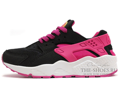 Кроссовки Женские Nike Air Huarache Black White Pink
