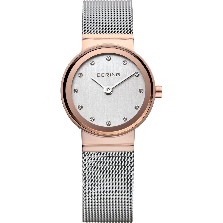 Bering 10126-066 - женские наручные часы из коллекции ClassicBering<br>женские,  сапфировое стекло, корпус из нерж. стали с покрытием pvd розового цвета , браслет из нерж. стали, циферблат белого цвета с 12-ю кристаллами swarovski<br><br>Бренд: Bering<br>Модель: Bering 10126-066<br>Артикул: 10126-066<br>Вариант артикула: ber-10126-066<br>Коллекция: Classic<br>Подколлекция: None<br>Страна: Дания<br>Пол: женские<br>Тип механизма: кварцевые<br>Механизм: None<br>Количество камней: None<br>Автоподзавод: None<br>Источник энергии: от батарейки<br>Срок службы элемента питания: None<br>Дисплей: стрелки<br>Цифры: отсутствуют<br>Водозащита: WR 50<br>Противоударные: None<br>Материал корпуса: нерж. сталь, PVD покрытие: позолота (полное)<br>Материал браслета: нерж. сталь<br>Материал безеля: None<br>Стекло: сапфировое<br>Антибликовое покрытие: None<br>Цвет корпуса: розовое золото<br>Цвет браслета: серый<br>Цвет циферблата: None<br>Цвет безеля: None<br>Размеры: 26 мм<br>Диаметр: 26 мм<br>Диаметр корпуса: None<br>Толщина: None<br>Ширина ремешка: None<br>Вес: None<br>Спорт-функции: None<br>Подсветка: None<br>Вставка: кристаллы Swarovski<br>Отображение даты: None<br>Хронограф: None<br>Таймер: None<br>Термометр: None<br>Хронометр: None<br>GPS: None<br>Радиосинхронизация: None<br>Барометр: None<br>Скелетон: None<br>Дополнительная информация: None<br>Дополнительные функции: None