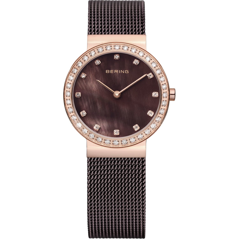 Bering 10729-262 - женские наручные часы из коллекции ClassicBering<br>rose gold, шоколадный миланский браслет, перламутровый циферблат, сапфировое стекло<br><br>Бренд: Bering<br>Модель: Bering 10729-262<br>Артикул: 10729-262<br>Вариант артикула: ber-10729-262<br>Коллекция: Classic<br>Подколлекция: None<br>Страна: Дания<br>Пол: женские<br>Тип механизма: кварцевые<br>Механизм: None<br>Количество камней: None<br>Автоподзавод: None<br>Источник энергии: от батарейки<br>Срок службы элемента питания: None<br>Дисплей: стрелки<br>Цифры: отсутствуют<br>Водозащита: WR 50<br>Противоударные: None<br>Материал корпуса: нерж. сталь, IP покрытие: позолота (полное)<br>Материал браслета: нерж. сталь, IP покрытие (полное)<br>Материал безеля: None<br>Стекло: сапфировое<br>Антибликовое покрытие: None<br>Цвет корпуса: розовое золото<br>Цвет браслета: коричневый<br>Цвет циферблата: None<br>Цвет безеля: None<br>Размеры: 30 мм<br>Диаметр: 29 мм<br>Диаметр корпуса: None<br>Толщина: None<br>Ширина ремешка: None<br>Вес: None<br>Спорт-функции: None<br>Подсветка: None<br>Вставка: кристаллы Swarovski<br>Отображение даты: None<br>Хронограф: None<br>Таймер: None<br>Термометр: None<br>Хронометр: None<br>GPS: None<br>Радиосинхронизация: None<br>Барометр: None<br>Скелетон: None<br>Дополнительная информация: None<br>Дополнительные функции: None