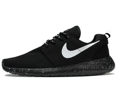 Кроссовки Мужские Nike Roshe Run Noir Blanc Black White Speck